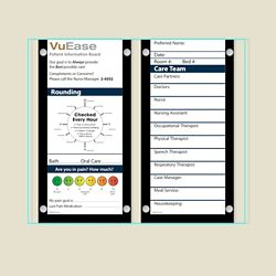 """Double Glass Patient Board with Square Corners - 30.6""""W x 26""""H"""