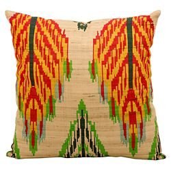 "kathy ireland by Nourison Ikat Leaf Pattern Accent Pillow - 18""W x 18""H"