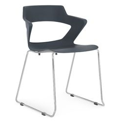 Sled Base Polypropylene Stack Chair with Wing Arms