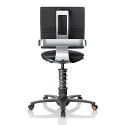 3Dee Polished Frame Multi Motion Fabric Task Chair