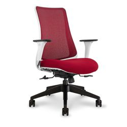 Mesh Back Task Chair with White Frame