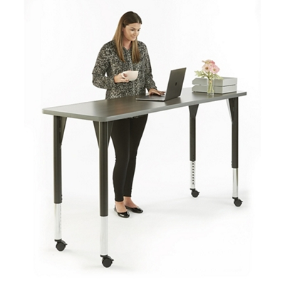 "Agile Mobile Adjustable Height Table - 72""W x 30""D"