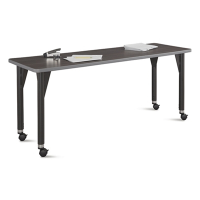 "Agile Mobile Adjustable Height Table - 60""W x 24""D"
