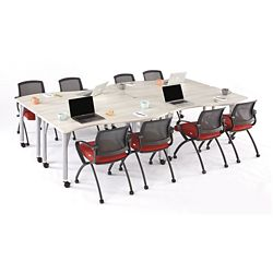 Agile Curve Mobile Adjustable Height Table Set