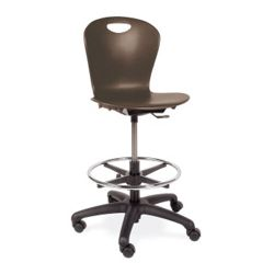 Adjustable Height Lab Stool With Casters
