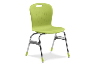 Stack Chair with Booted Legs