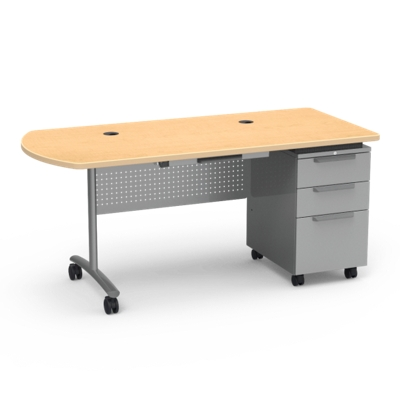 "Mobile Peninsula Teacher Desk - 30""W x 66""D"