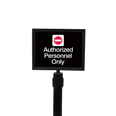 """Black Sign Frame for Crowd Control Post-  8.5""""W x 11""""H"""