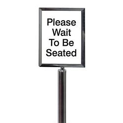"Black Sign Frame for Crowd Control Post-  11""W x 14""H"