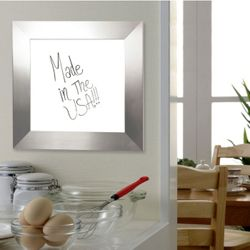 "54""W x 54""H Decorative Framed Whiteboard"