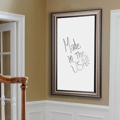 "42""W x 48""H Decorative Framed Whiteboard"