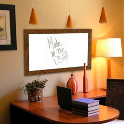"54""W x 54""H Decorative Wood Framed Whiteboard"