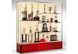 "72"" Wide Spirit Display Case with Fabric Back"