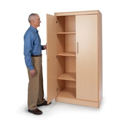 "Four Shelf Storage Cabinet - 72""H"