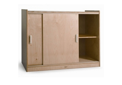 "Sliding Door Storage Cabinet - 41""W"