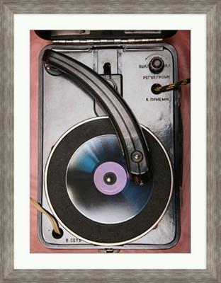 """Retro Vinyl Player - 28""""W x 36""""H"""