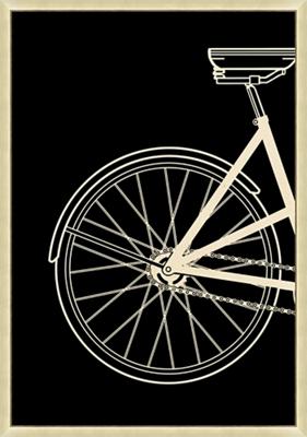 "Vintage Bike Left - 20""W x 28.5""H"