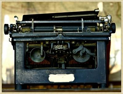 """Vintage Typewriter - 50""""W x 38""""H"""