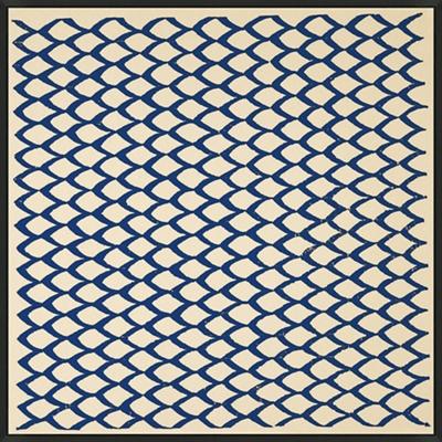 "Blue Pattern 2 - 28""W x 28""H"