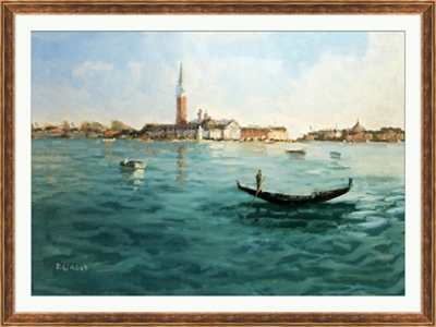 "Distant Venice - 48""W x 36""H"