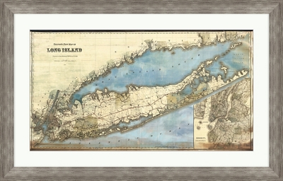 "New York Long Island - 36""W x 23""H"