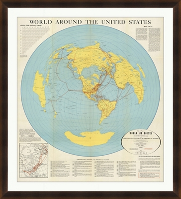 "World Around the US - 40""W x 44""H"