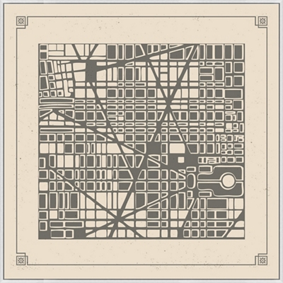 "Map City Plan - 51""W x 51""H"