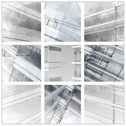 "City Sketch - 44""W x 44""H"