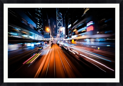 """City Blur - 60""""W x 42""""H"""