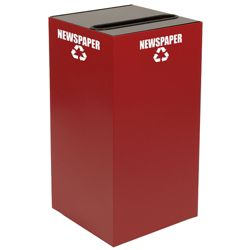 Slot Top Metal Recycling Container - 32 Gallon