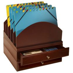 Set of Two Stacking Drawers & Five Slot File Tray