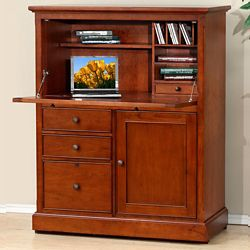 """Drop Front Computer Armoire - 41""""W"""