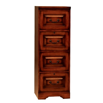 "Four Drawer Vertical File - 18.5""W"