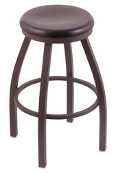 "Wood or Vinyl Stool - 30""H Swivel Seat"