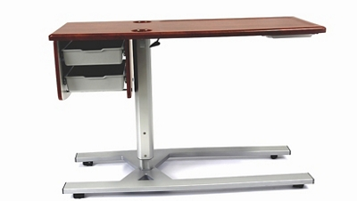 """Overbed Table with Two Drawers - 46"""" W"""