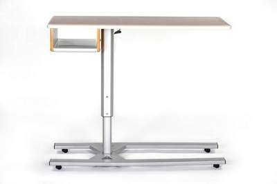 "Overbed Table with One Shelf - 46"" W"