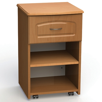 "One Drawer and One Open Shelf Bedside Cabinet - 19""W"