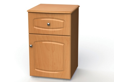 """One Drawer and One Right Door Bedside Cabinet - 19""""W"""
