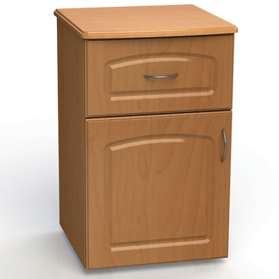 """One Drawer and One Left Door Bedside Cabinet - 19""""W"""