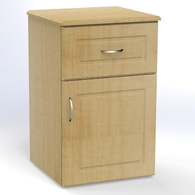 "One Drawer and One Left Door Bedside Cabinet - 19""W"