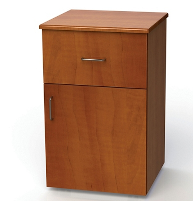 "One Drawer and One Right Door Bedside Cabinet - 19""W"
