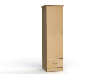 "One Door and One Drawer Wardrobe Cabinet - 72""H"