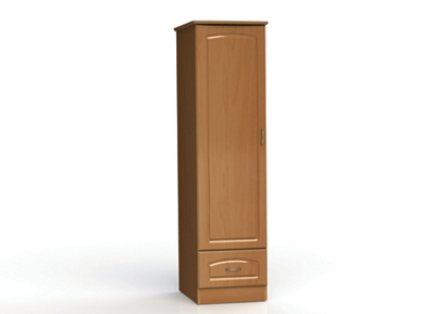 """One Door and One Drawer Wardrobe Cabinet - 72""""H"""