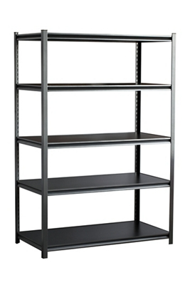 "Boltless Five Shelf Steel Shelving 48"" W x 24"" D x 72"" H"