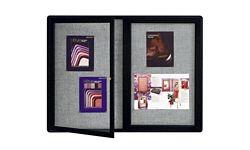 Fabric Corkboard 2-Doors 48x36