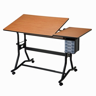 Adjustable Height Split Top Drafting Table
