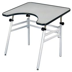 Wheelchair Accessible Drafting Table with Adjustable Height