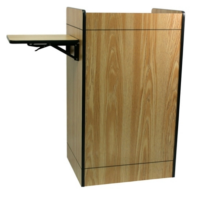 Storage Lectern with Side Shelf