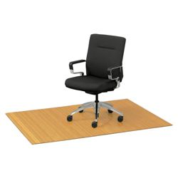 """Eco-Friendly Bamboo Wood Chair Mat - 48"""" x 72"""" x 5mm Thick"""
