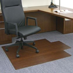 """Eco-Friendly Bamboo Wood Chair Mat with Lip - 44"""" x 52"""" x 5mm Thick"""